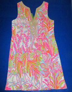 LILLY PULITZER 16 Janice SCUBA to CUBA Gold Soutache Shift Dress NWT New 16 #LillyPulitzer #Shift #SummerBeach