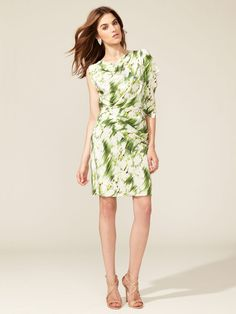 Matthew Williamson Silk Asymmetrical Flutter Dress