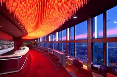Fiam at Bar Panoramique La Vue, Hotel Concorde Lafayette in Paris. (Photo by Michel Denancé). #Fiam #culturadelvetro #design #glass #interiordesign #furniture #madeinitaly  www.fiamitalia.it