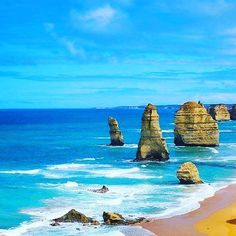 It has been a great day along great ocean road in VICTORIA! this place is one of the best I ve ever seen!  #australia #australie #australians #australian #beach #sea #victoria #sky #bluesky #lightblue #horizon #sun #sunrise #sunset #happy #sunnyday #waves #greatoceanroad #bestplace #beautifulplace #bestplaceever #nature #peace by australia_heart