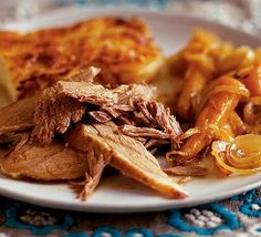 Slow cooked, melt-in-the-mouth meat that needs 7 hours in the oven but little more than 7 minutes work for the chef
