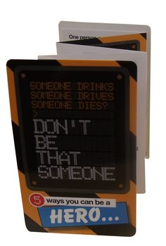 We recently collaborated with the charity 'Don't be that someone' to raise awareness about drink driving.