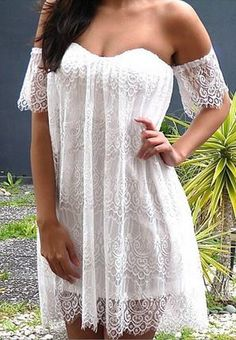 Sexy Off-The-Shoulder  Lace Dress