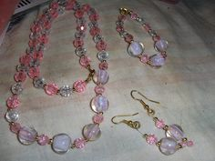 """""""Pink Marbles"""" 3 piece set --- $8.00 + $3.00 shipping in the USA"""