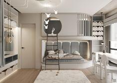 Modern Kids Bedroom, Cool Kids Bedrooms, Teen Bedroom Designs, Room Design Bedroom, Modern Bedroom Design, Kids Room Design, Home Room Design, Luxury Kids Bedroom, Modern Bedrooms