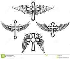 Set Of The Cross With Wings - Download From Over 62 Million High Quality Stock Photos, Images, Vectors. Sign up for FREE today. Image: 66697582