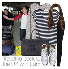 """Travelling back to the UK with Liam"" by style-with-one-direction ❤ liked on Polyvore featuring H&M, Topshop, Sole Society, Converse, Kate Spade, Skullcandy, OneDirection, LiamPayne, 1d and liam payne one direction 1d"
