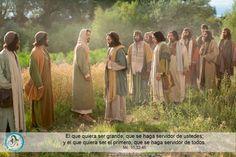 """Evangelio según San Marcos 10,32-45. Mientras iban de camino para subir a Jerusalén, Jesús se adelantaba a sus discípulos; ellos estaban asombrados y los que lo seguían tenían miedo. Entonces reunió nuevamente a los Doce y comenzó a decirles lo que le iba a suceder: """"Ahora subimos a Jerusalén; allí el Hijo del hombre será entregado a los sumos sacerdotes y a los escribas. Lo condenarán a muerte y lo entregarán a los paganos: ellos se burlarán de él, lo escupirán, lo azotarán y lo matarán. Y…"""