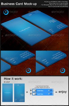 Business Card Mockup — Photoshop PSD #blue #business • Available here → https://graphicriver.net/item/business-card-mockup/132421?ref=pxcr