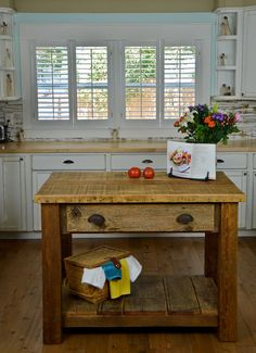 Custom Built Barnwood Kitchen Island by KevinsCustomCreation, $1400.00