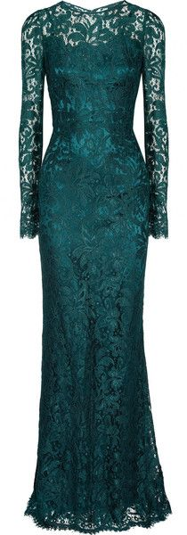 Trending:: Lace Gown Dolce & Gabbana. Divine color, the lace is perfection! It's what you don't show that counts!
