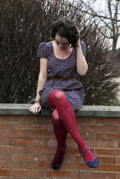 Burgundy tights, can't wait to wear mine when it gets colder