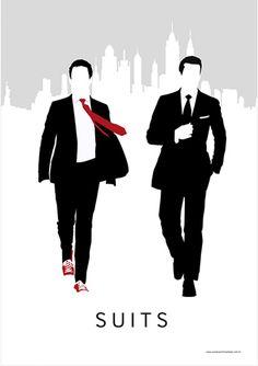 Suits - Suits - Drama/Suspense - Séries | Posters Minimalistas