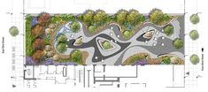 Street Bonus Plaza and Terraces by Starr Whitehouse – mooool Rooftop Design, Courtyard Design, Architecture Plan, Landscape Architecture, Parque Linear, Lanscape Design, Landscape Design Plans, Landscaping Design, East Street