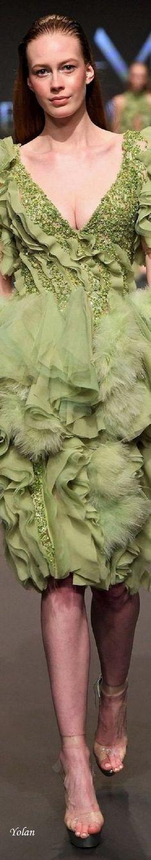 Abed Mahfouz Spring-Summer 2017/2018 Forever Green, Abed Mahfouz, Turkish Fashion, Lace Skirt, Spring Summer, Glamour, Elegant, Chic, Pretty
