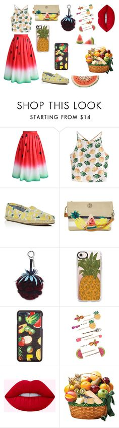 """""""Fruit Freak"""" by sis-sleep-shades ❤ liked on Polyvore featuring Chicwish, WithChic, TOMS, Giani Bernini, Casetify, Dolce&Gabbana, Red Camel, Nordstrom Rack, men's fashion and menswear"""