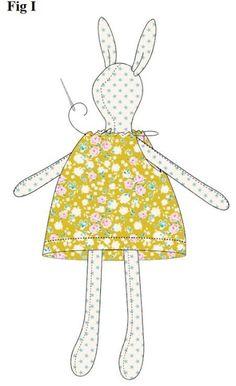 Crochet Teddy Bear Pattern, Crochet Bunny, Crochet Dolls, Fabric Toys, Paper Toys, Bunny Toys, Sewing Dolls, Doll Tutorial, Soft Dolls