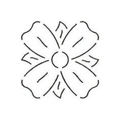 Dogwood Flower Quilting Stencil