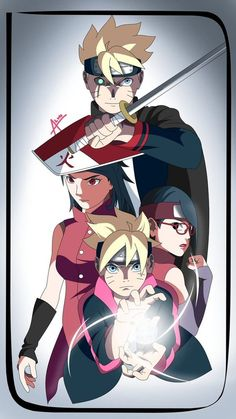 In the anime version, Boruto is arguably not very strong yet. Sarada excels even more in one-on-one duels than Boruto, who must still be helped to def. Sarada Uchiha Manga, Naruto Shuppuden, Boruto And Sarada, Naruto Team 7, Naruto Cute, Naruto Shippuden Anime, Shikadai, Manga Anime, Anime Neko