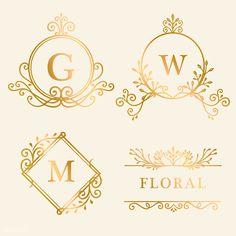 Web Design Logo, Luxury Logo Design, Vector Design, Initials Logo, Monogram Logo, Adobe Illustrator, Logos Vintage, Golden Logo, Hand Drawn Logo