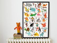 This amazing Animal Alphabet print will be sure to provide hours of entertainment for your little one, and educational too... whats not to love