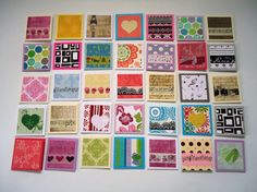 35 little mini notecards lunch box love notes mini shop by Uneek4U