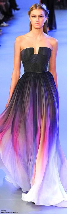 New arrival navy blue ombre long prom dress 2015 without belt, A line custom made cheap evening prom dresses,formal women dress,graduation dress