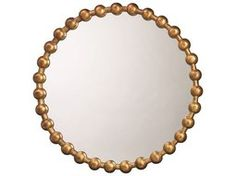 Jamie Young Company Ball Chain 36'' Round Antique Gold Large Mirror