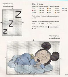 Borduurpatroon Disney Algemeen *Cross Stitch Pattern Disney ~Mickey Mouse~