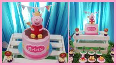 Peppa Pig Dessert Table Set-up, Cake, Cupcakes: Sweet PEA by Genesis Sison-Basiao Cakepops & cookies: The Cakeroom