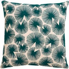 sparks blue-green pillow with feather-down insert in pillows Cute Pillows, Diy Pillows, Accent Pillows, Decorative Pillows, Cushions, Throw Pillows, Leather Pillow, Pillow Room, Modern Rugs