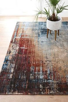 Buy Salvage Abstract Rug from the Next UK online shop Conservatory Flooring, Conservatory Decor, Industrial Rugs, Industrial Interiors, Industrial Furniture, Furniture Deals, Furniture Styles, Interior Design Jobs, Rugs