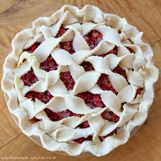 Fluffy Ruffle Red Huckleberry Pie from Kate McDermott of Art of the Pie®.