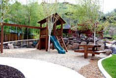 timber-playground-slide-swing | Western Timber Frame
