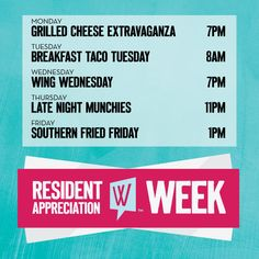 Who's excited for Resident Appreciation Week?! We know we are!