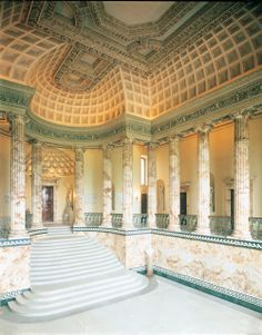 Holkham Hall interior, Marble Hall, photograph © by kind permission of Viscount Coke and the Trustees of the Holkham Estate