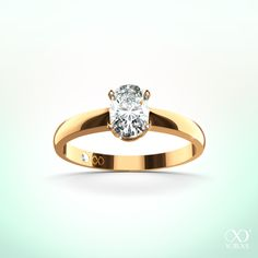 """""""Feronia"""" ring is especially for oval cut diamonds so that it can show its beauty #yorxs #diamantring #gold"""