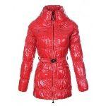 Moncler Women Long Sleeve Coats Red Moncler