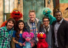 Pentatonix on Sesame Street! Show me a cuter photo than this. I dare you!