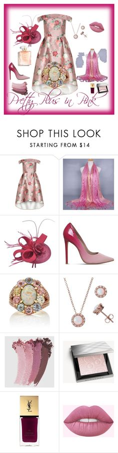 """""""Pretty Plus in Pink"""" by audkoppe on Polyvore featuring Carvela, John Hardy, Halo, Gucci, Burberry and Yves Saint Laurent"""