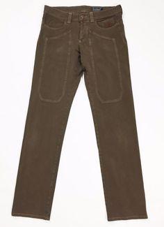 Jeckerson w33 46 48 LL008U regular fit gamba dritta marrone usato uomo pants