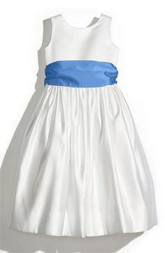 Toddler Girl's Us Angels Ivory Satin Tank Dress