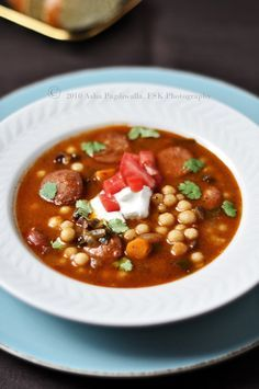 Lebanese Soup with Moghrabieh/Lebanese Couscous