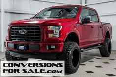 F150 lariat red 2016 6 inch lift - Google Search