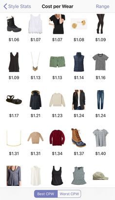For the cost per wear stat, I remove the price of items that reach $1 cost per wear (and make a note of the price in the notes section) because that's my goal cost per wear for every item in my closet. It helps me focus on wearing the items that are close to that $1 mark! Stylebook App, Closet App, Cher Clueless, Style Challenge, How To Make Notes, Ethical Fashion, Fashion History, What I Wore, Clothing Items