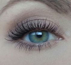 Soft eye makeup and full lashes