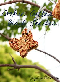Bird/squirrel feeder.  Fun, messy kids crafts.. to feeding our  wild.