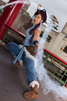 Korra, from the Legend of Korra within Avatar: the Last Airbender