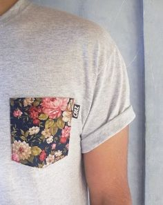 Sew a pocket in a printed fabric onto a plain tee to give your t-shirt a new look!
