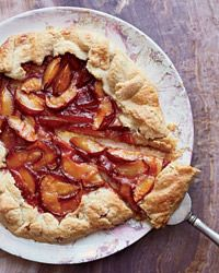 Jacques Pepin's Plum Galette This tart is a favorite dessert at Jacques Pépin's house. You can make it with any seasonal fruit, such as rhubarb, peaches, cherries, apricots or apples. The dough is buttery, flaky and very forgiving. And it comes together in 10 seconds in a food processor.